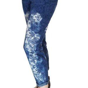 Bandolino Lisbeth Curvy Skinny Crop Pants Blue 12